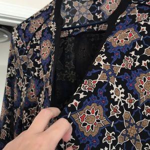 Lush Dresses - Belted 3/4 sleeve shift dress